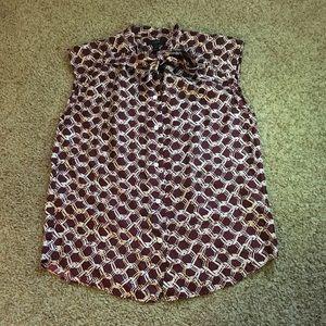 JCrew sleeveless dress shirt